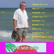 Never Wear Socks back CD cover. Click photo to display larger photo.